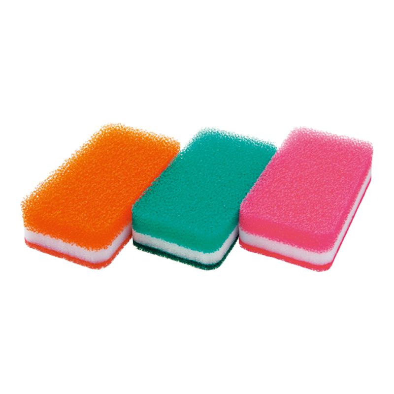 台所用スポンジ3色セット抗菌タイプN