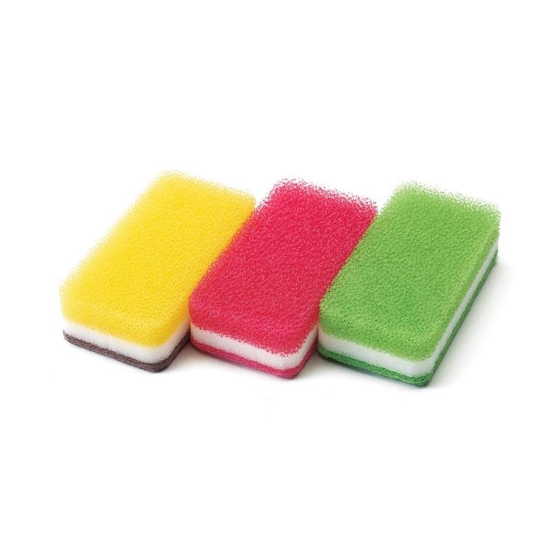 台所用スポンジ3色セット抗菌タイプ